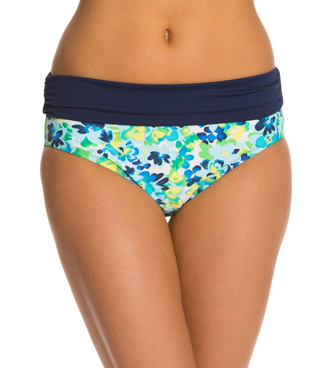 f4a2954d41 Beach House Swimwear Clearwater Floral Fold Over Shirred Bikini ...