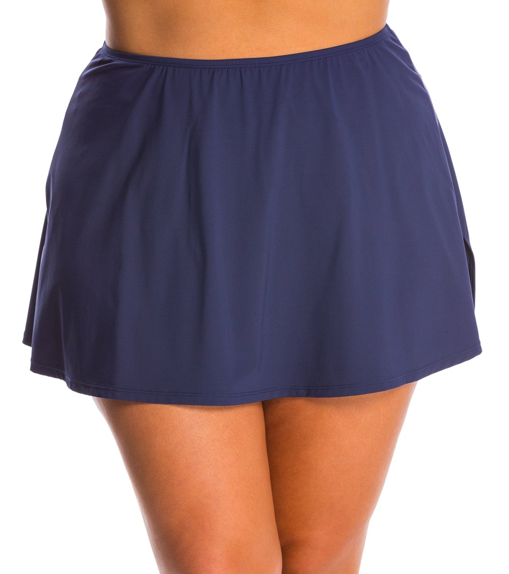 Beach House Plus Size Solid Charlotte Swim Skirt at SwimOutlet.com - Free  Shipping e766387f470c