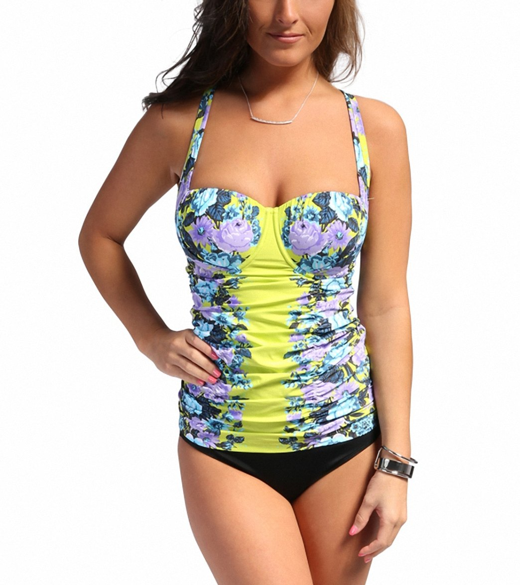 775b9851cd4ed Seafolly Bella Rose DD-Cup Balconette Tankini Top at SwimOutlet ...