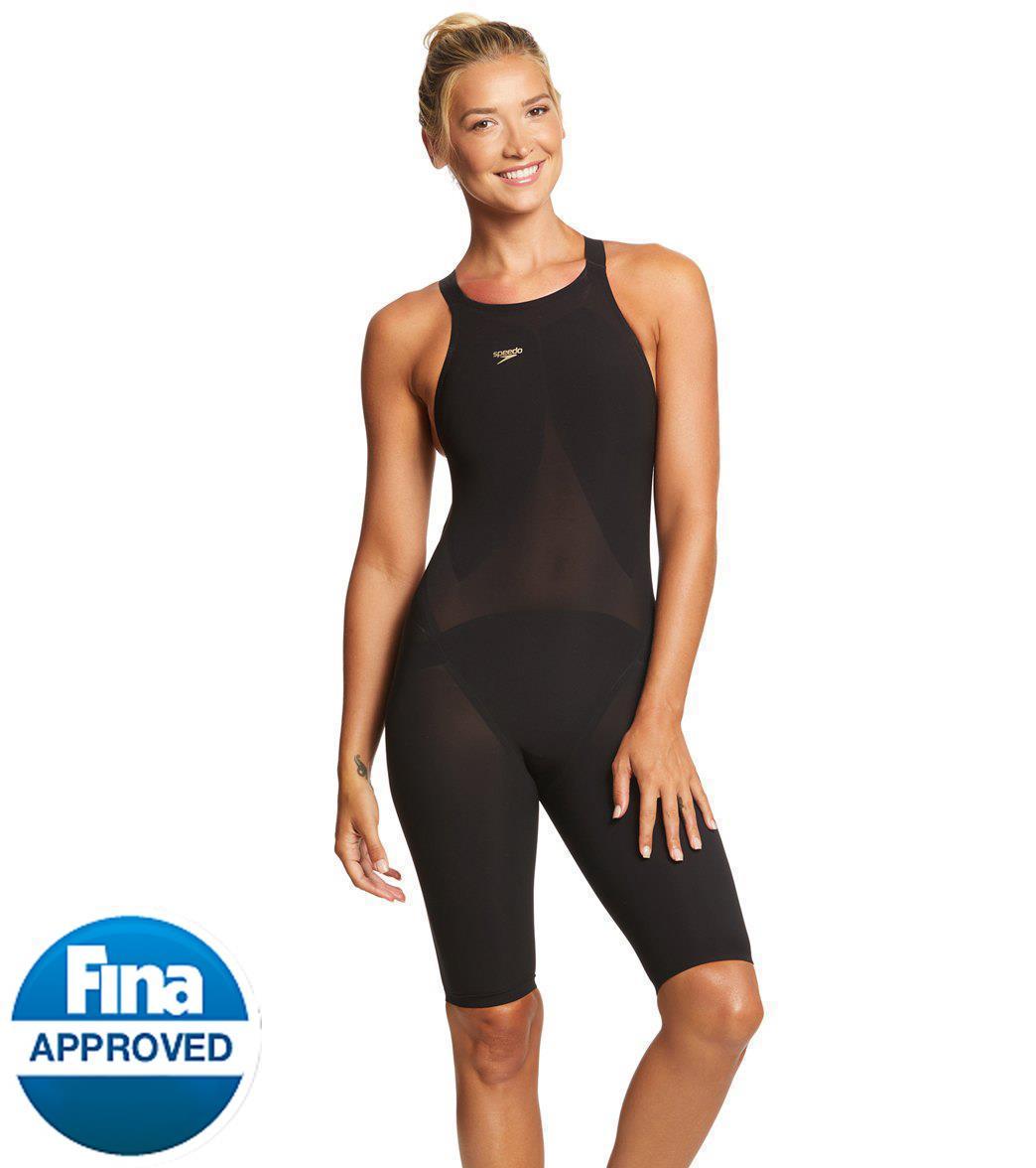 Speedo Women S Lzr Racer Elite 2 Comfort Strap Kneeskin Tech Suit Swimsuit