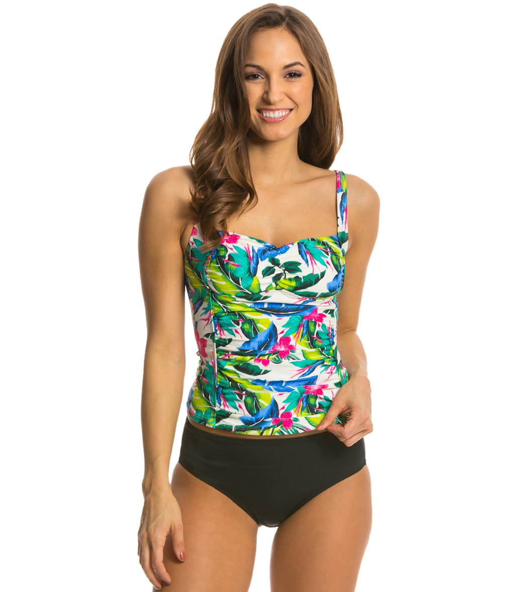 84a7d6bff9df5 Eco Swim Tropical Princess Seam Tankini at SwimOutlet.com - Free ...