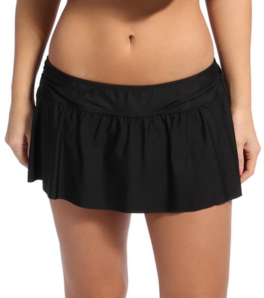 9a272b87b4 Eco Swim Solid Shirred Side Swim Skirt