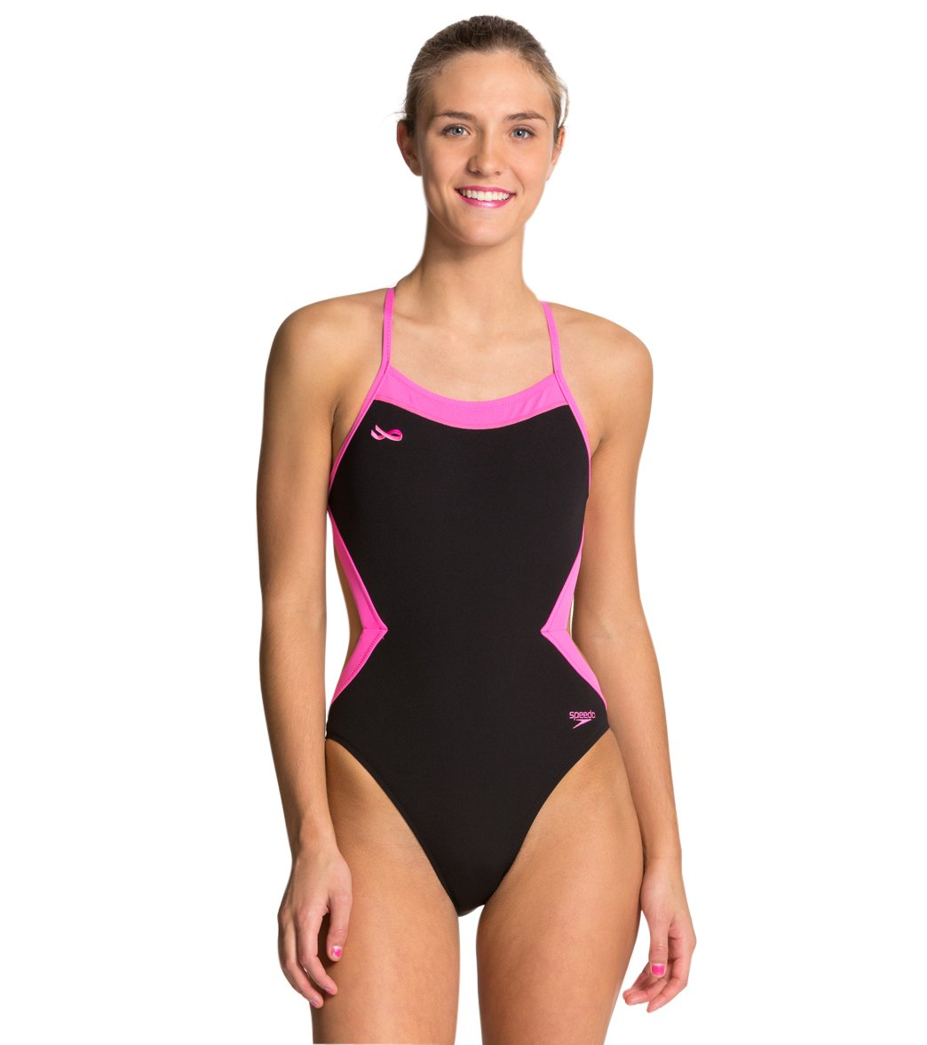 42edc20d50232 ... Speedo BS4H Color Block One Piece Swimsuit Play Video. MODEL  MEASUREMENTS