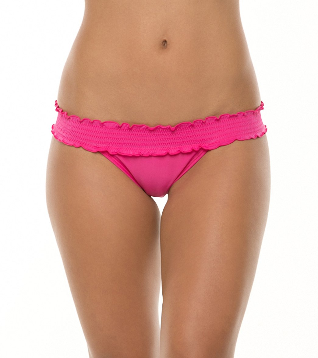 5d6a106775 Sofia Solid Rocotto Rouche Banded Bikini Bottom at SwimOutlet.com - Free  Shipping