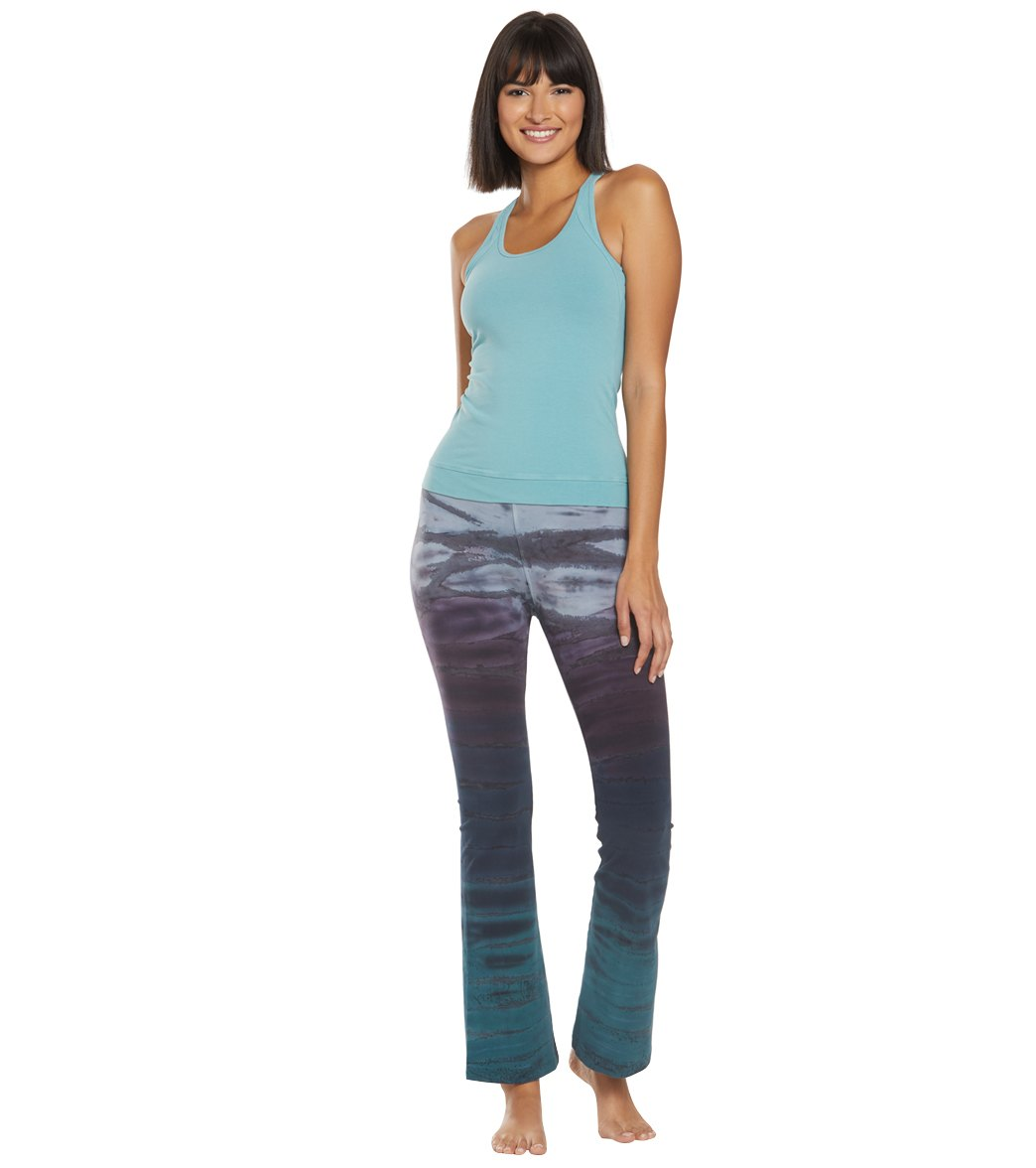 27892c740ba9e Hard Tail Rolldown Bootleg Cotton Flare Pant at YogaOutlet.com ...