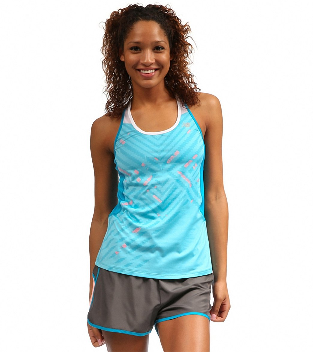 c5155544e6309 New Balance Women s Tonic Graphic Running Tank at SwimOutlet.com