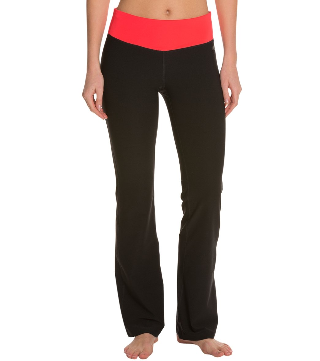 a36d3d5f26fc4 ... New Balance Women's Ultimate Bootcut Yoga Pants. Play Video. MODEL  MEASUREMENTS