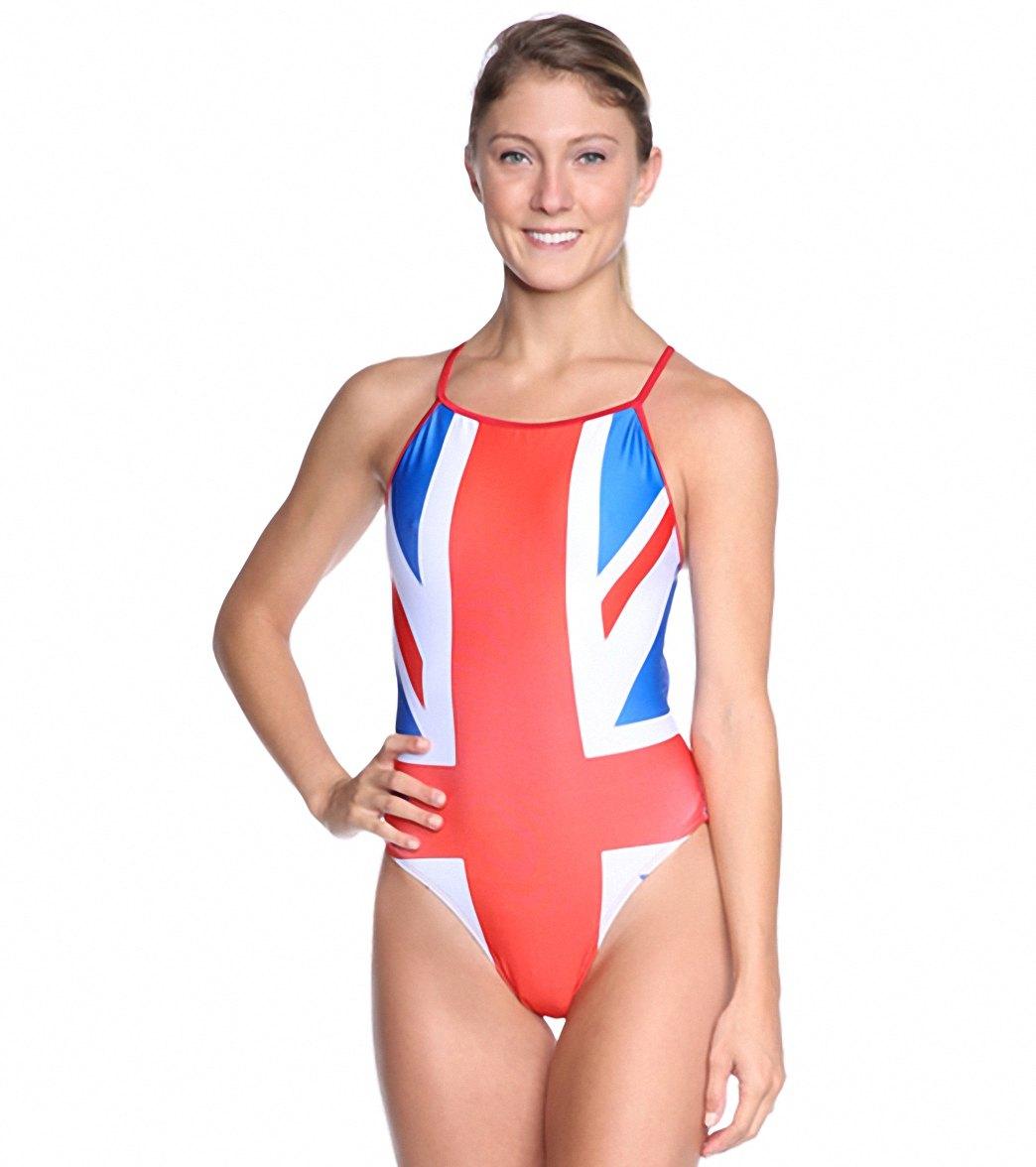4f5db644ba Splish Union Jack Thin Strap One Piece Swimsuit at SwimOutlet.com - Free  Shipping