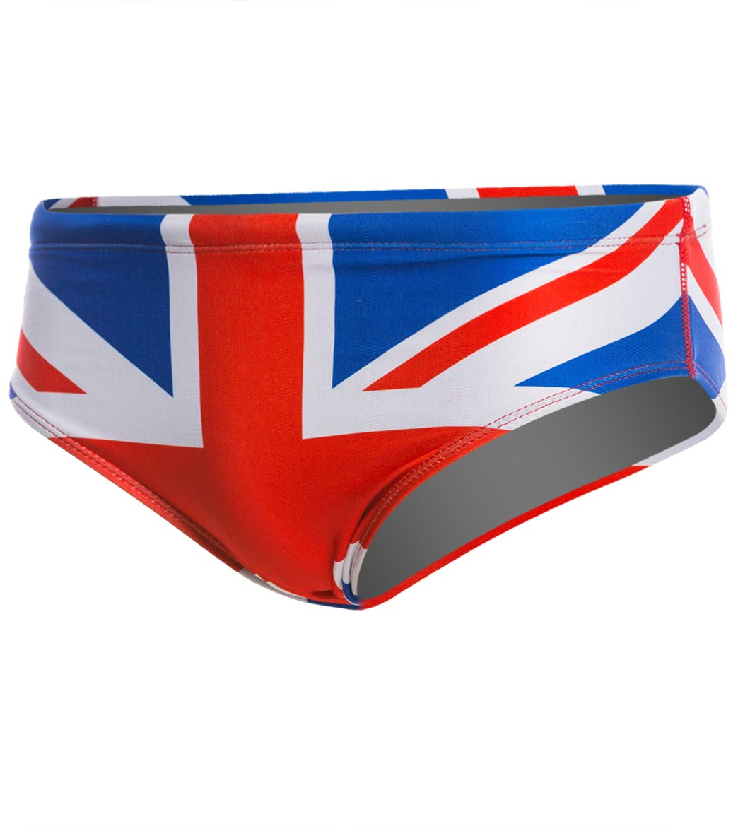 33fb706fb1 Splish Union Jack Brief Swimsuit at SwimOutlet.com