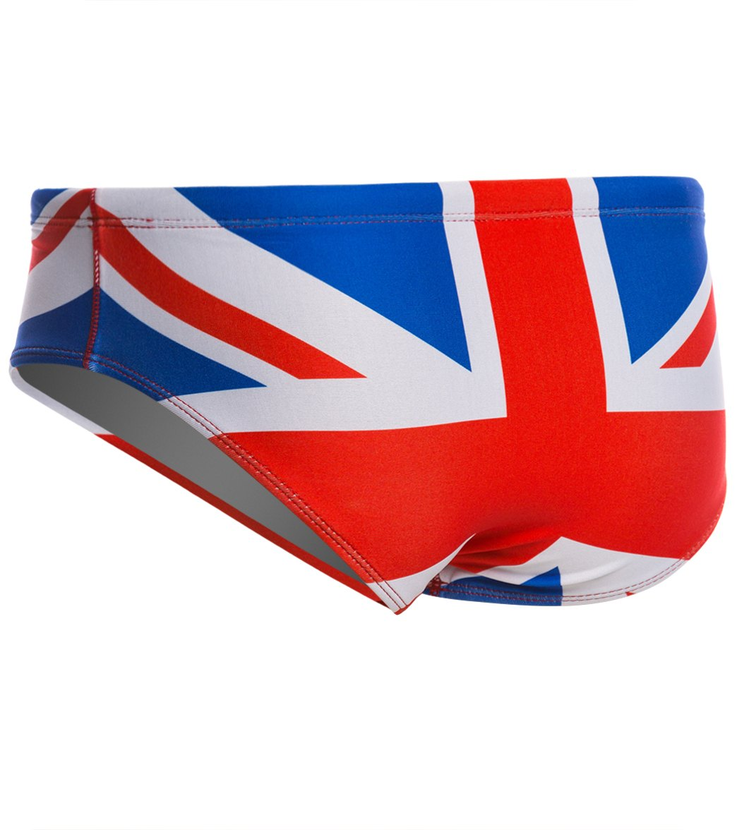 33fb706fb1 Splish Union Jack Brief Swimsuit at SwimOutlet.com