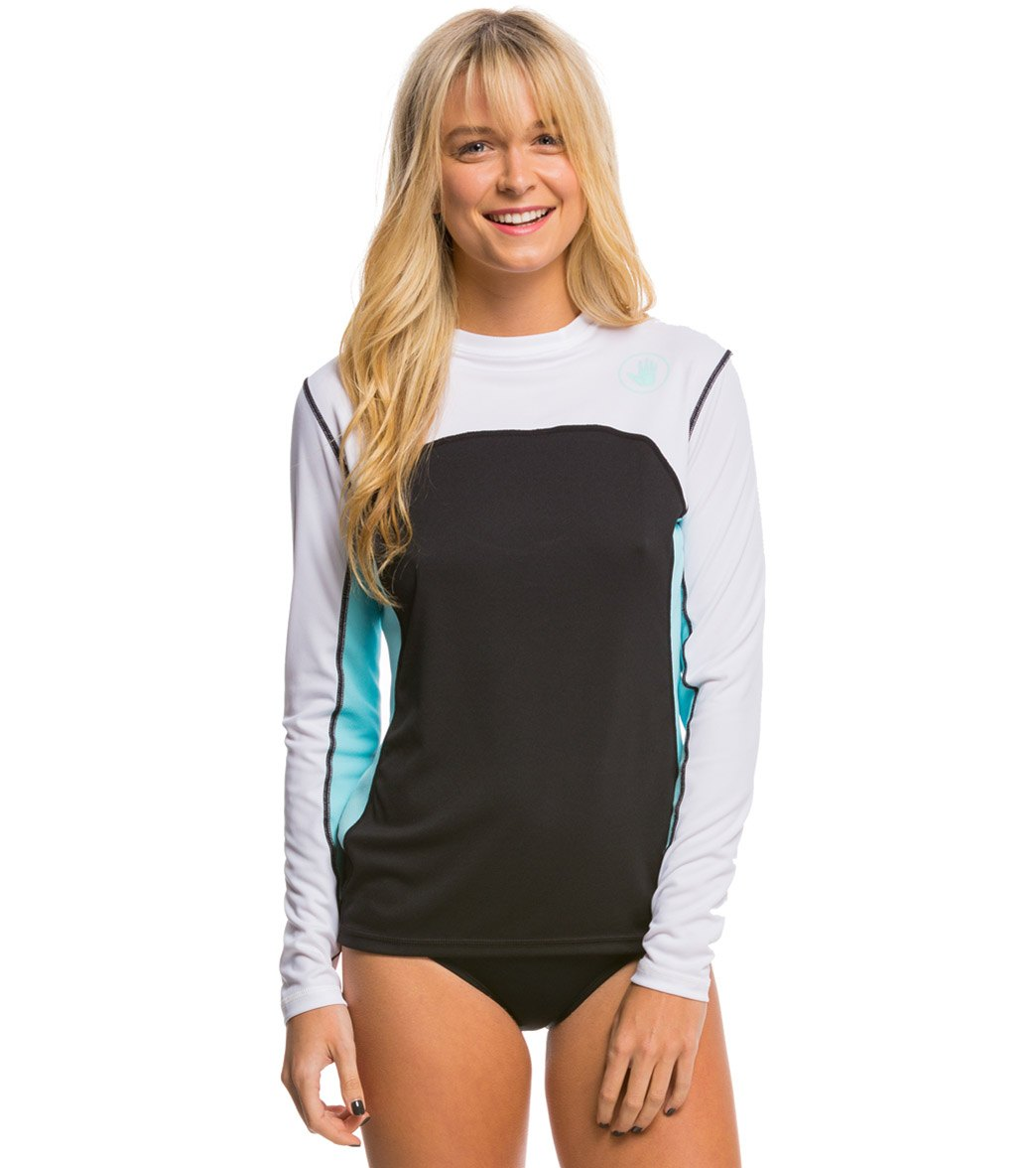 534b51e7 Body Glove Women's Performance Loose Fit Long Sleeve Surf Shirt at  SwimOutlet.com