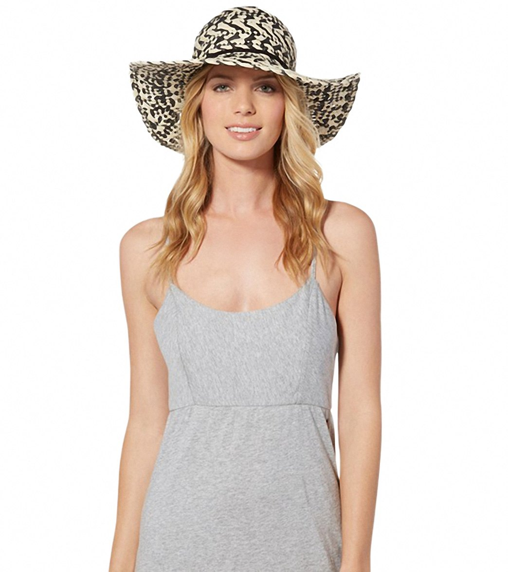 Roxy Summer Time Floppy Straw Hat at SwimOutlet.com b0f39a6b6ac