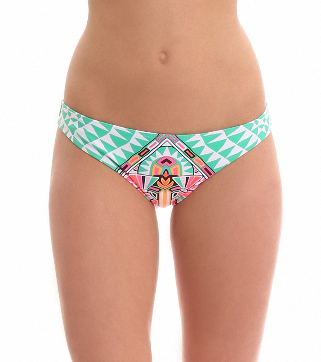 5da96593c18 ... Mara Hoffman Cosmic Fountain Classic Bikini Bottom. MODEL MEASUREMENTS