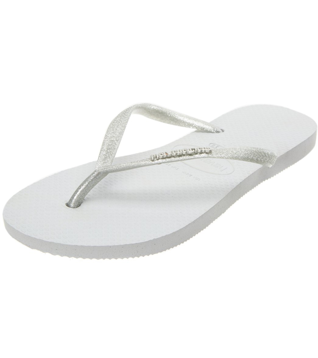 6b96704fcc315e Havaianas Women s Slim Logo Metallic Flip Flop at SwimOutlet.com