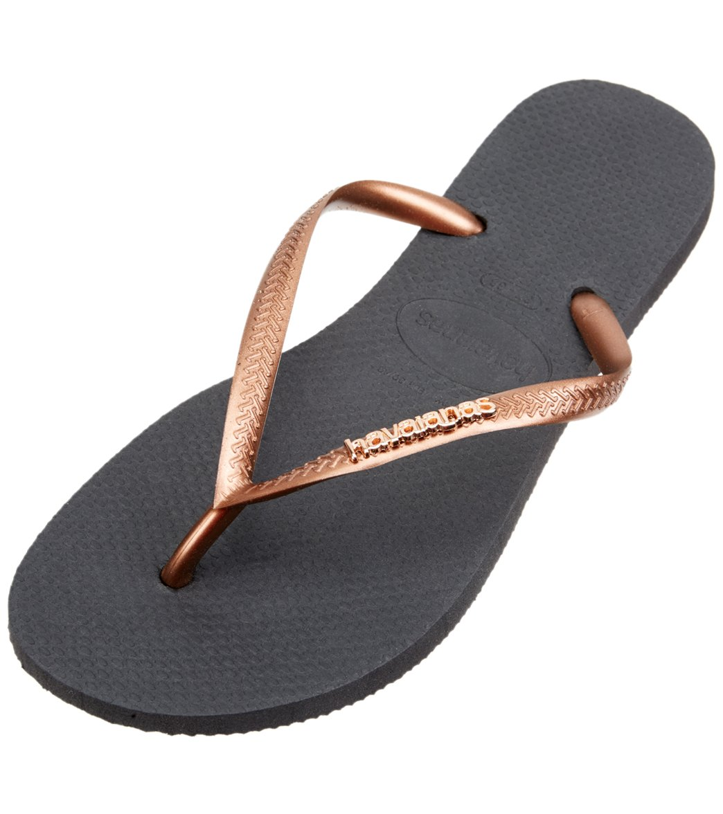 Havaianas Women's Slim Hardware Flip Flops Aubergine/Aubergine Sandal 41/42 Brazil (US Men's 9/10, Women's 11/12) M