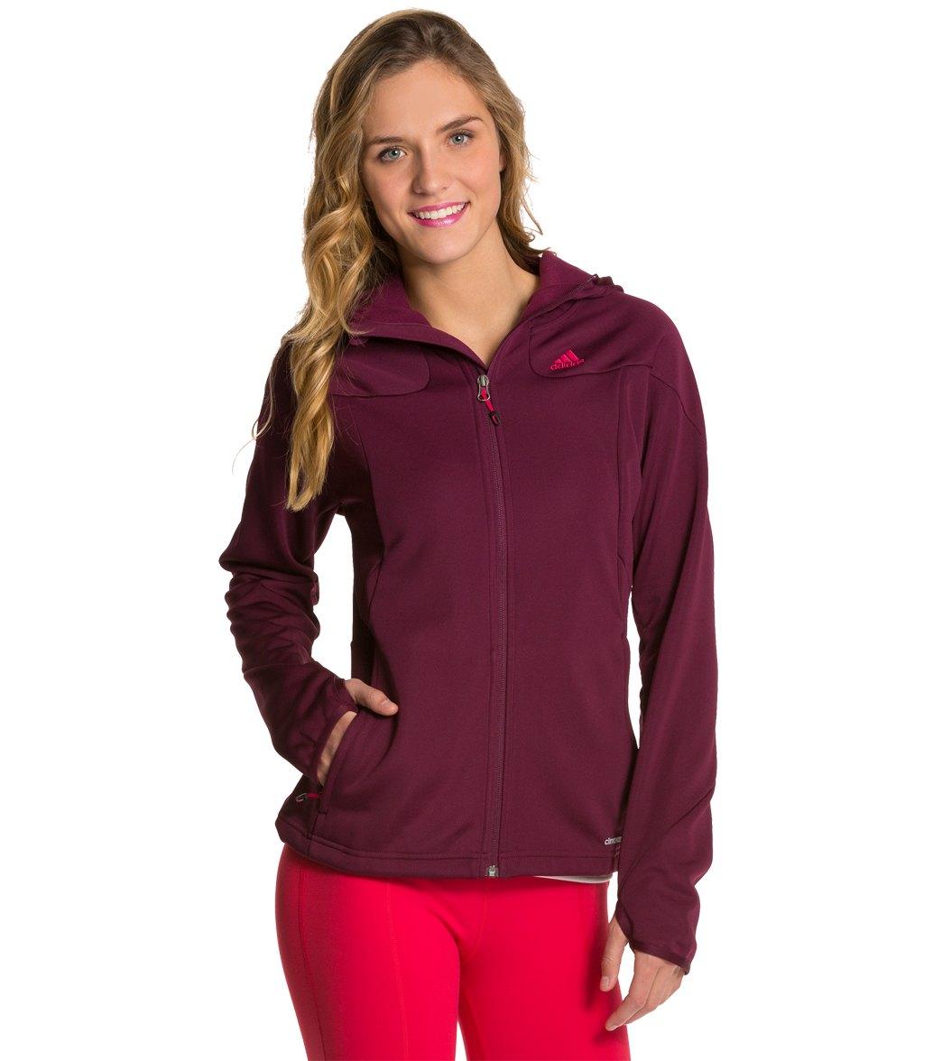 Adidas Women's Hiking 1 Side Fleece Running Hoodie - Amazon Red Xl - Swimoutlet.com
