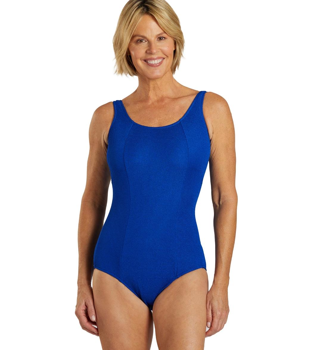 New John Lewis Girls Mermaid Splash Swimsuit Royal Blue RRP £14