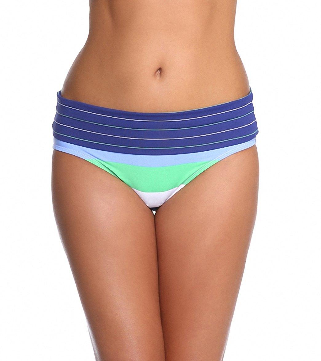 04ae4e028b Tommy Bahama Swimwear Skipper Stripe High Waist Wide Band Bikini Bottom