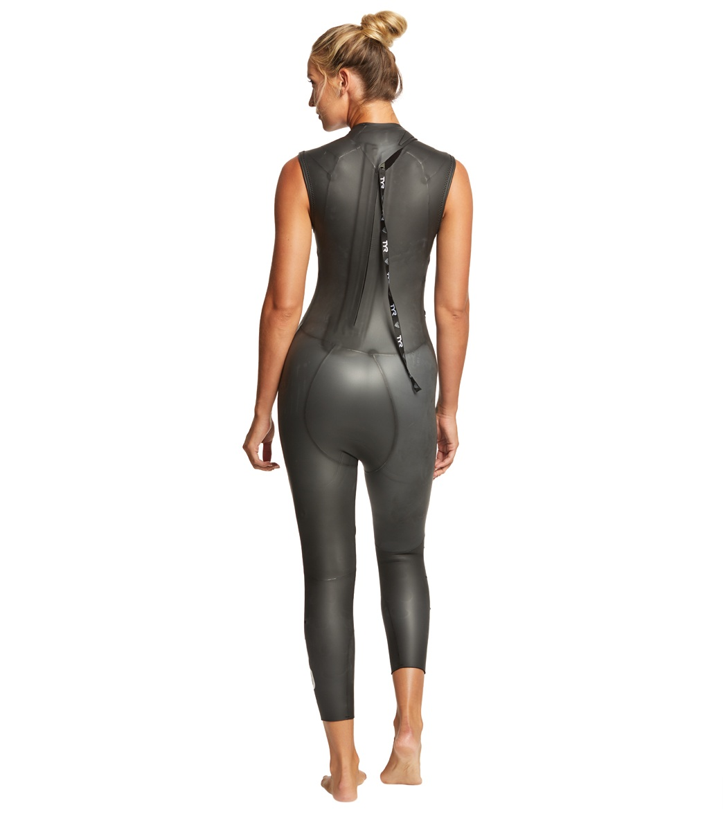f69396f0ba TYR Women s Hurricane Cat 1 Sleeveless Triathlon Wetsuit at SwimOutlet.com  - Free Shipping