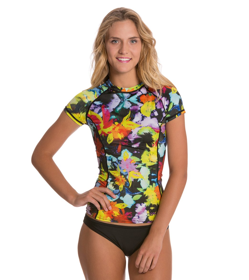 53dfeea76f3 Dakine Women's Tech Cap Sleeve Rashguard at SwimOutlet.com