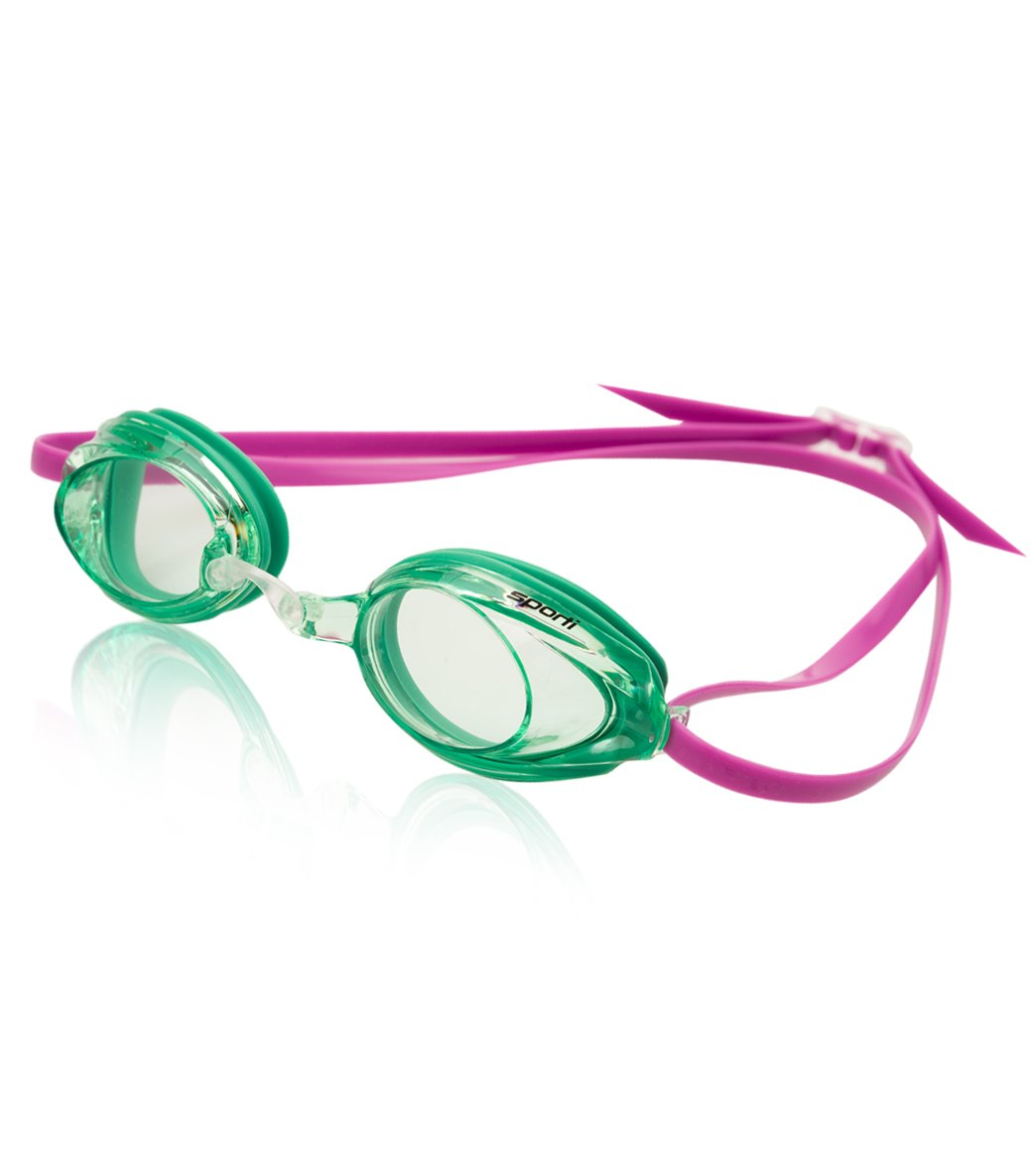 PINK Water Gear Inc. Water Gear Metallic Vision Swim Goggles Anti-fog Junior fit for Competition