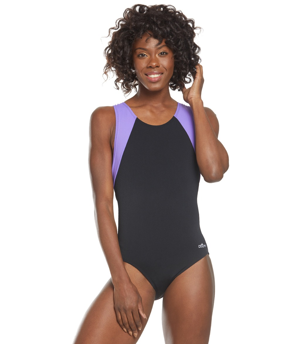 12c78860663 Dolfin Aquashape Moderate Color Block Lap Suit at SwimOutlet.com - Free  Shipping