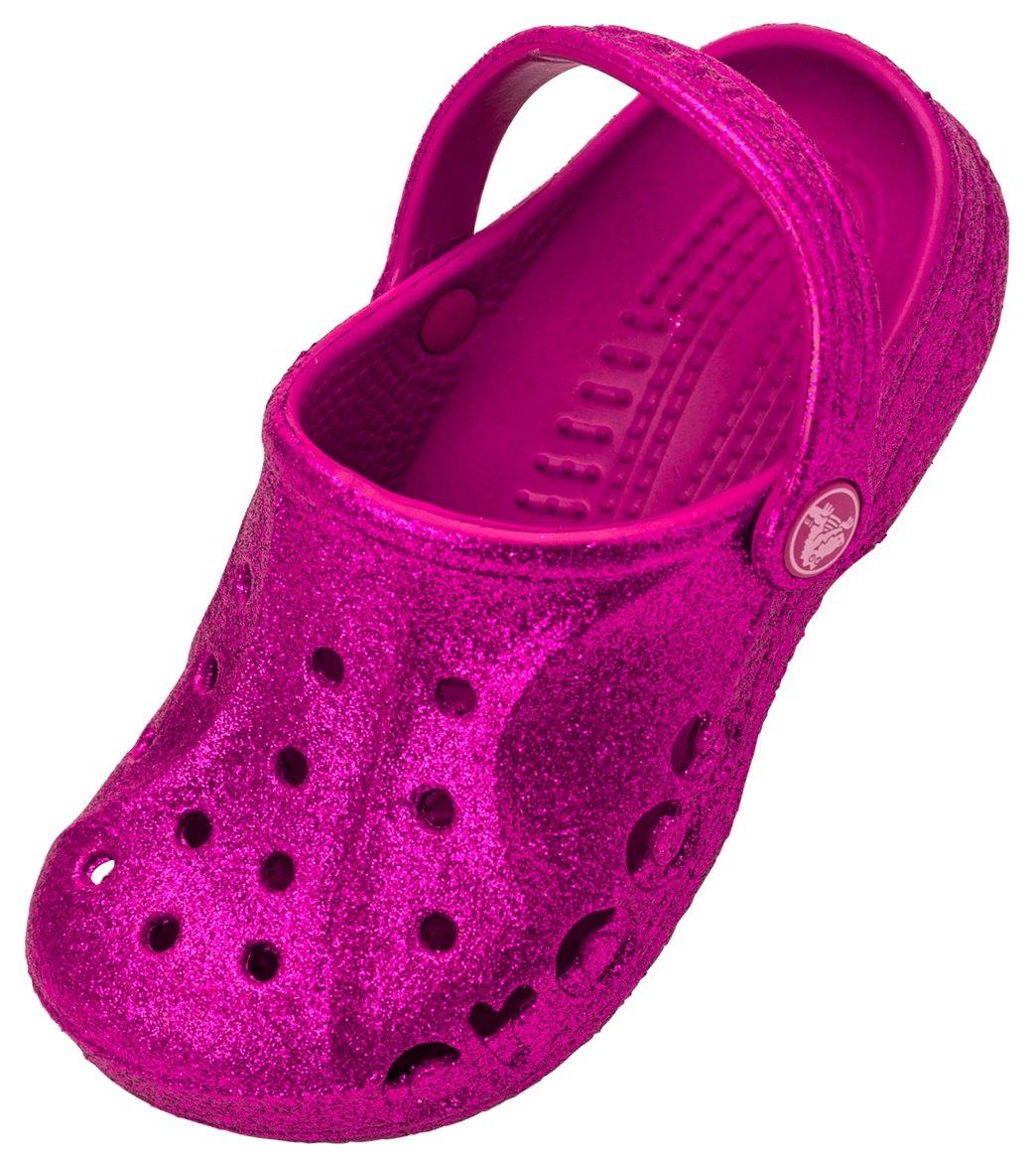13f2b67122 Crocs Girls' Baya Hi Glitter Clog (Toddler/ Little Kid/ Big Kid) at ...