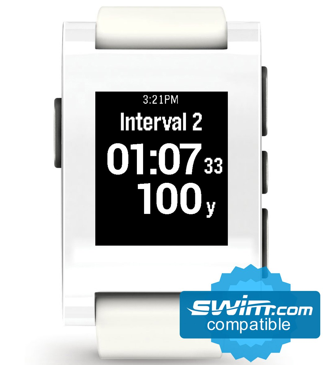 6a718c28359f Pebble Waterproof Smart Watch with Automatic Lap Counter at SwimOutlet.com  - Free Shipping