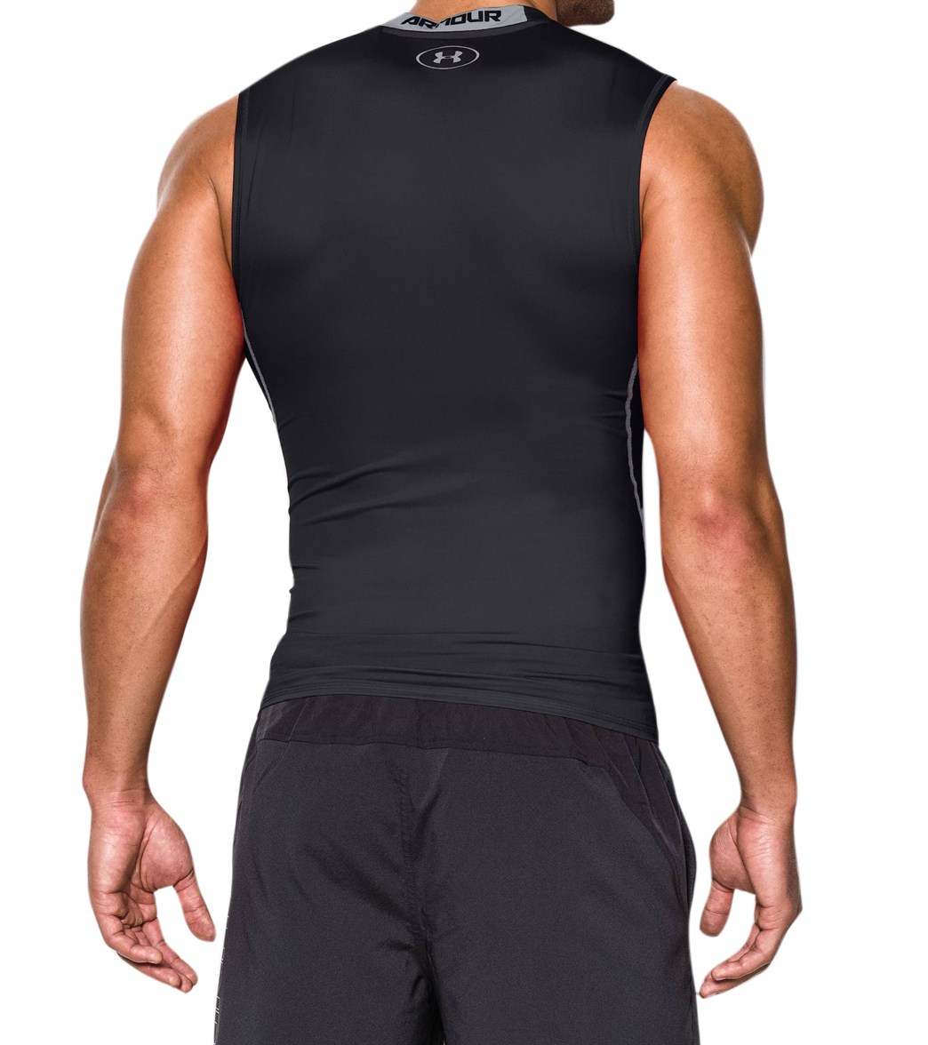 80828febb1fa7 Under Armour Men s HeatGear Armour Sleeveless Compression Shirt at ...