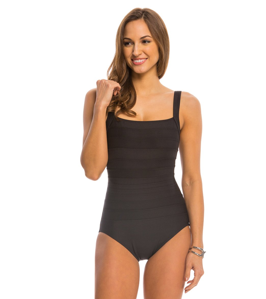 696ac3d0bd9 ... Miraclesuit Spectra Band-It Square Neck One Piece Swimsuit. Play Video.  MODEL MEASUREMENTS