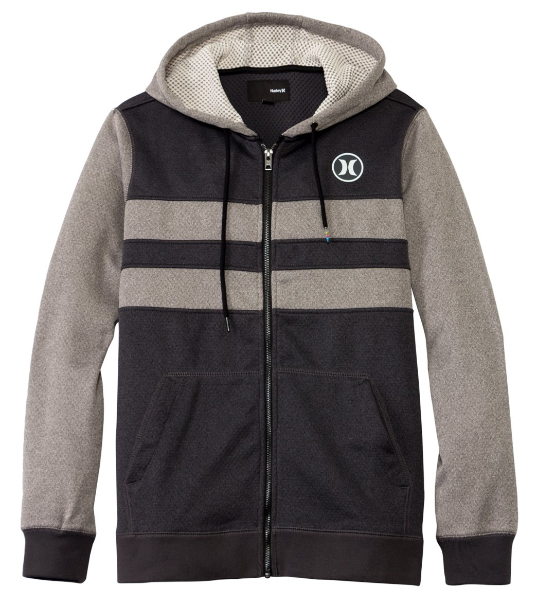 0ebb6b9684dd Hurley Men's Therma-Fit Block Party Zip Fleece Wetsuit Hoodie at  SwimOutlet.com - Free Shipping
