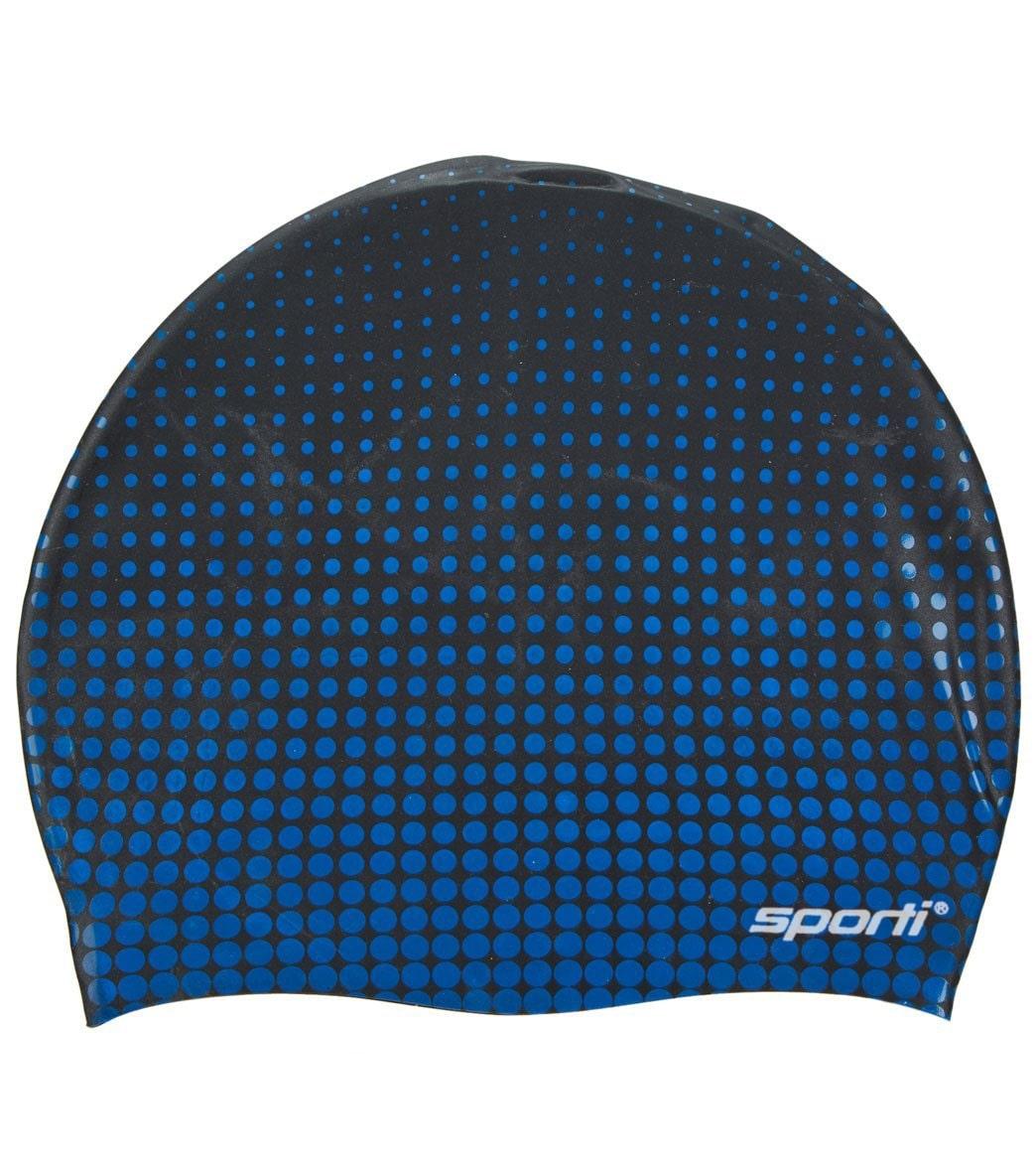 856e18b3ce1 Sporti Molecule Silicone Swim Cap at SwimOutlet.com