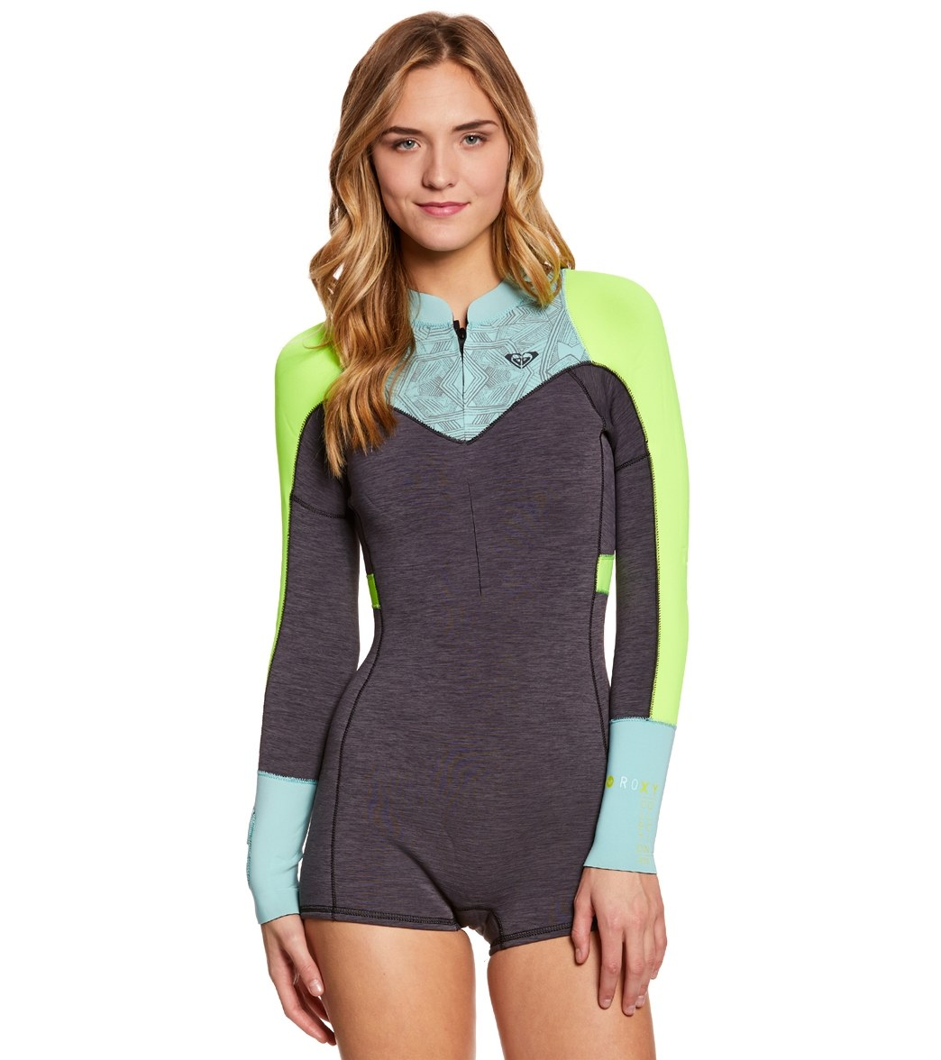 aead59a281 Roxy Women s 2MM XY Long Sleeve Front Zip Spring Suit Wetsuit at ...