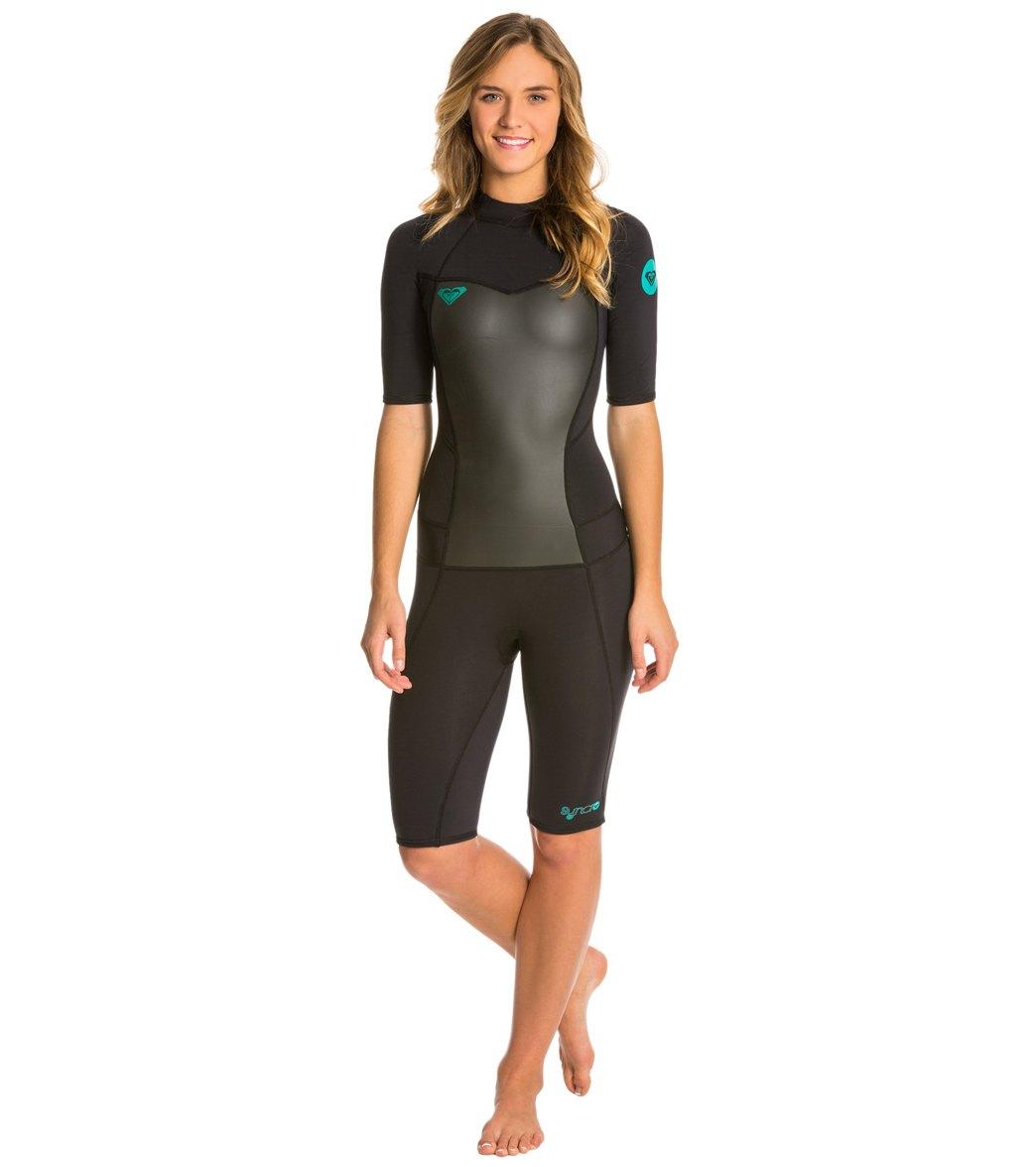... Women s 2MM Syncro Short Sleeve Back Zip Spring Suit Wetsuit Play  Video. MODEL MEASUREMENTS 73f61af39