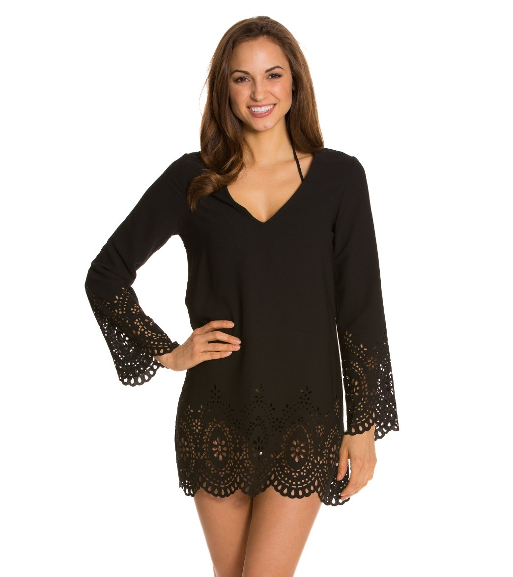 1acf0b94b1 ... Kenneth Cole Reaction Scalloped Away Cover Up Tunic Play Video. MODEL  MEASUREMENTS