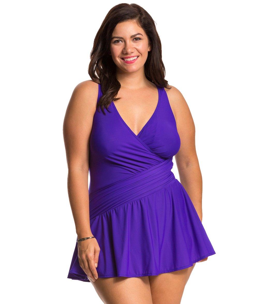 Underwire Swim Dress| Plus Size Swimwear | Roamans in