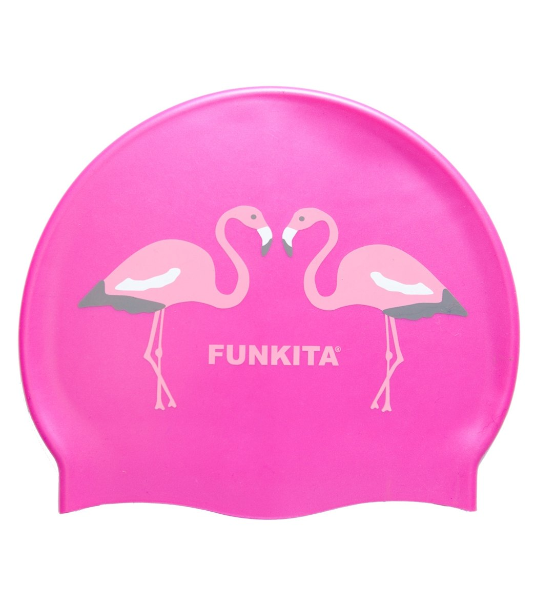 Funkita Flaming Go Go Silicone Swim Cap At Swimoutlet Com