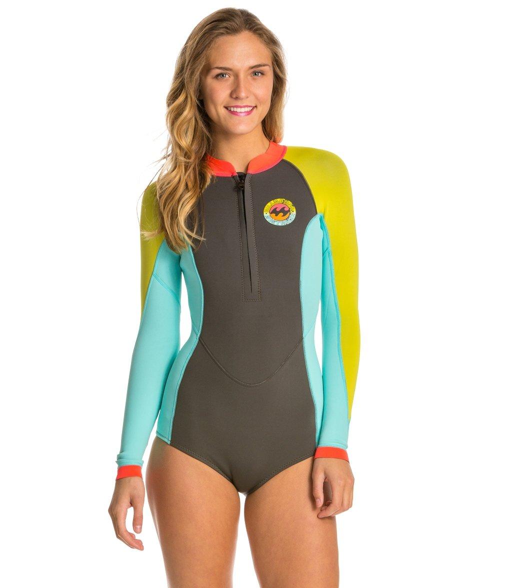 0af71c9537 Billabong Women s 2MM Salty Daze Front Zip Spring Suit Wetsuit at ...