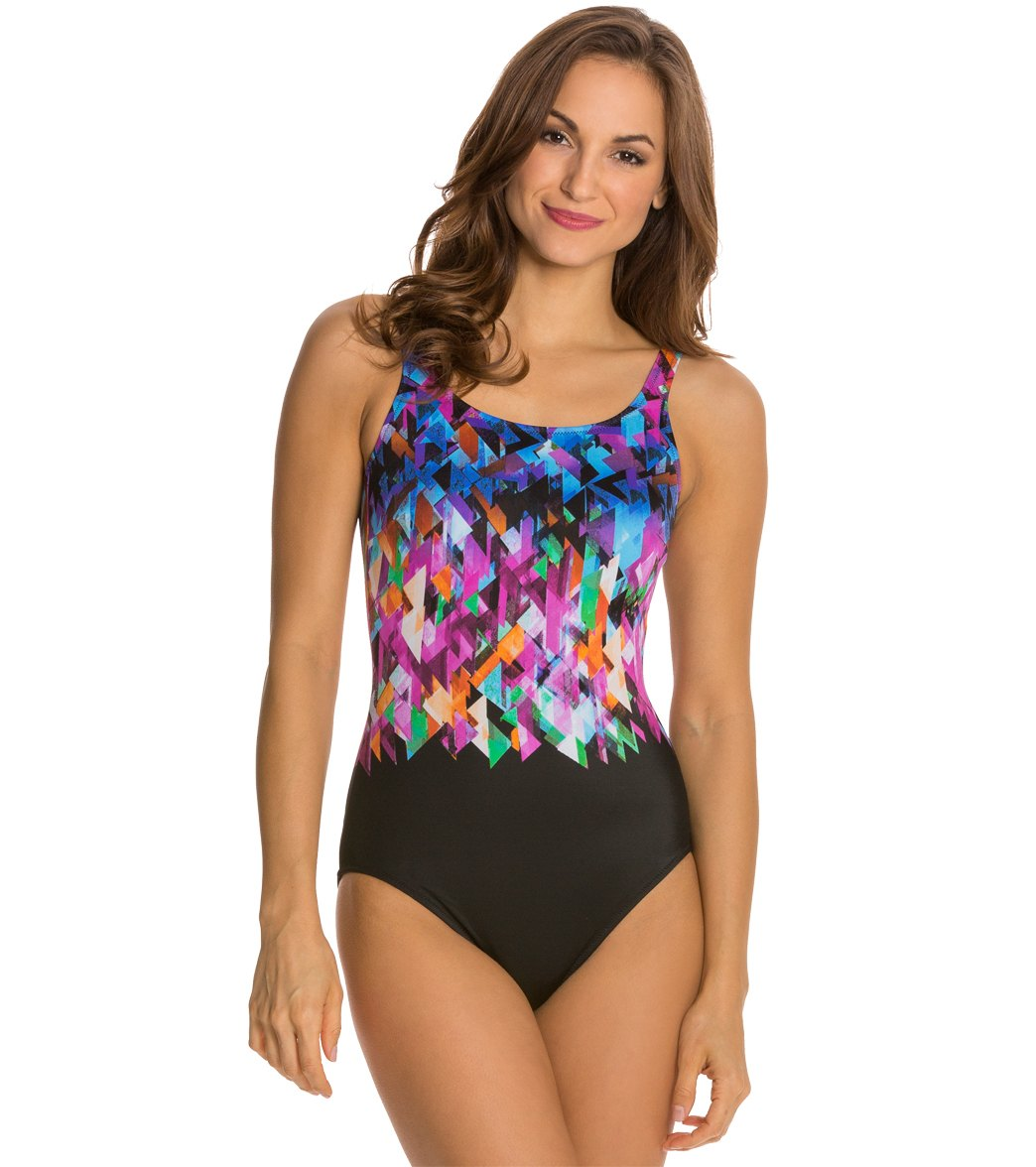 3e17b858c8b6d Gottex Fire & Ice Mastectomy One Piece Swimsuit at SwimOutlet.com ...