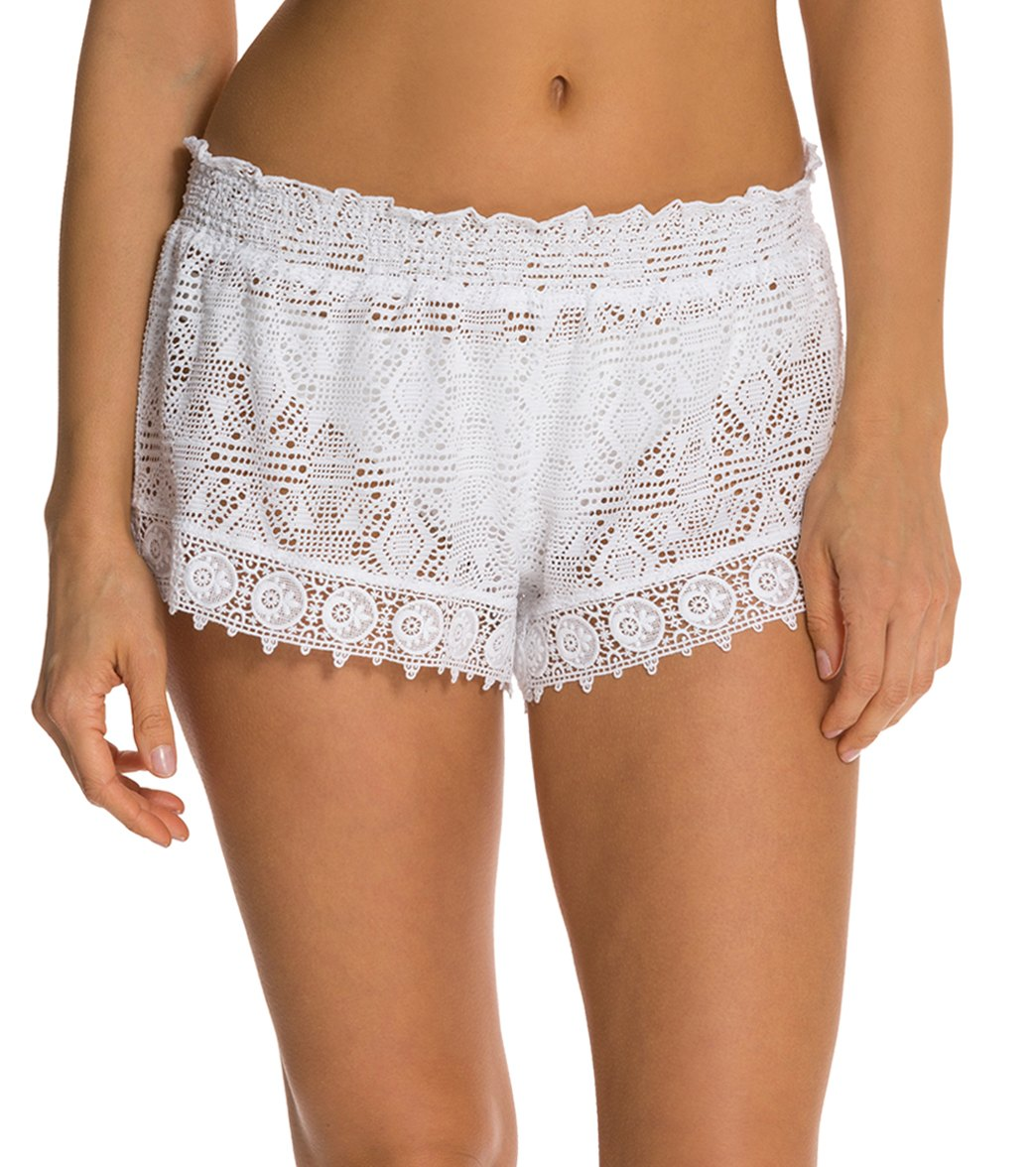cfba4088e Jessica Simpson Desert Fringe Crochet Short at SwimOutlet.com