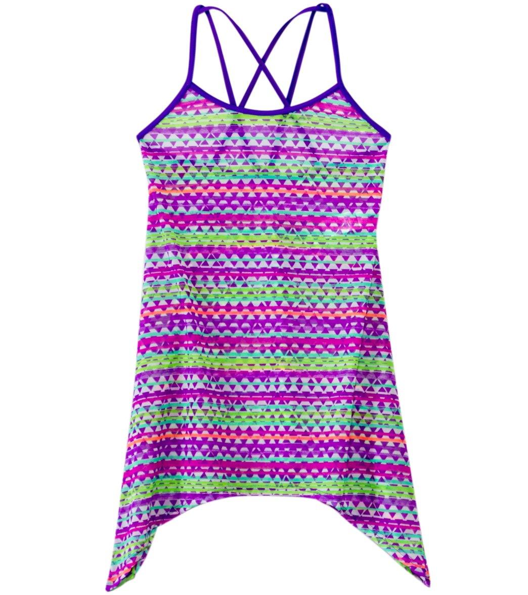 c21cb7ac7439e Gossip Girl Girls' Flying V Cover Up Dress at SwimOutlet.com