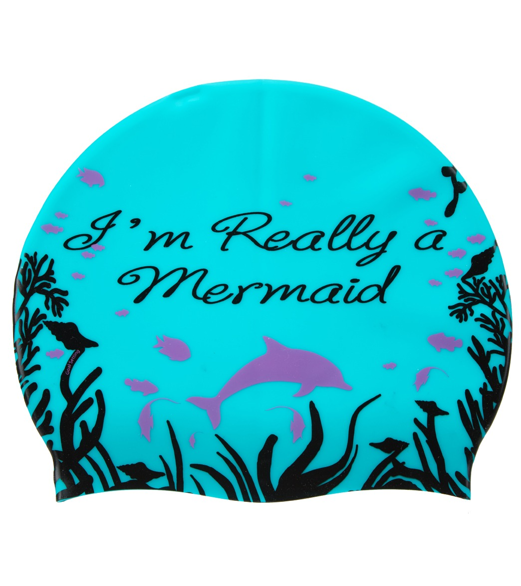 Sporti Im Really A Mermaid Silicone Swim Cap At SwimOutlet