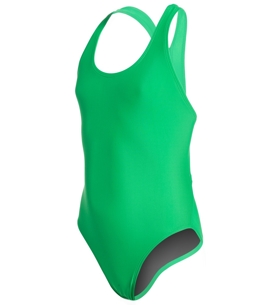07861afa87258 iSwim Essential Solid Wide Strap One Piece Swimsuit Youth (22-28) at  SwimOutlet.com