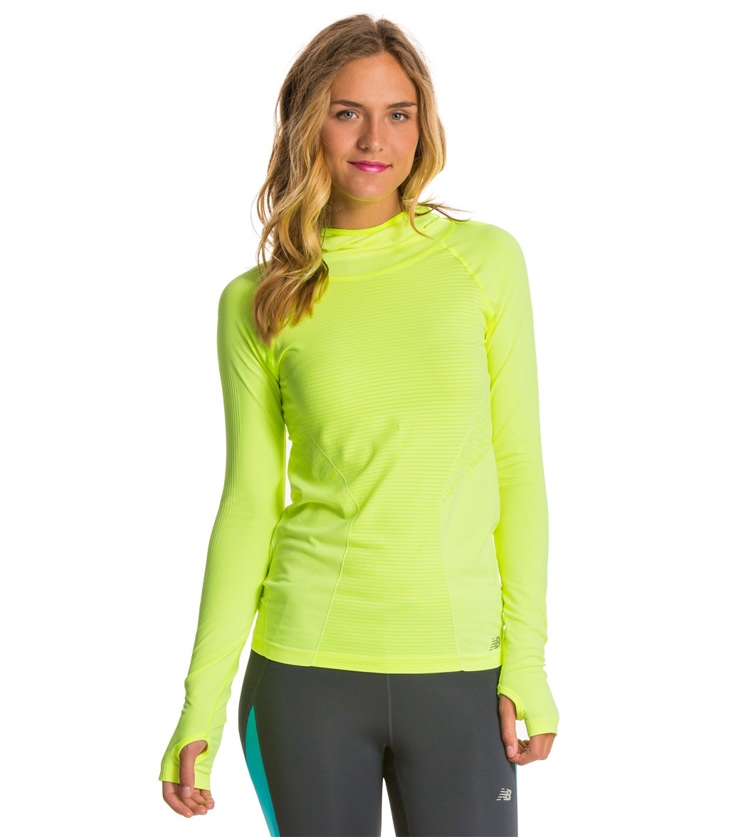 4d79dc9dd3790 New Balance Women's M4M Seamless Hoodie at SwimOutlet.com - Free Shipping