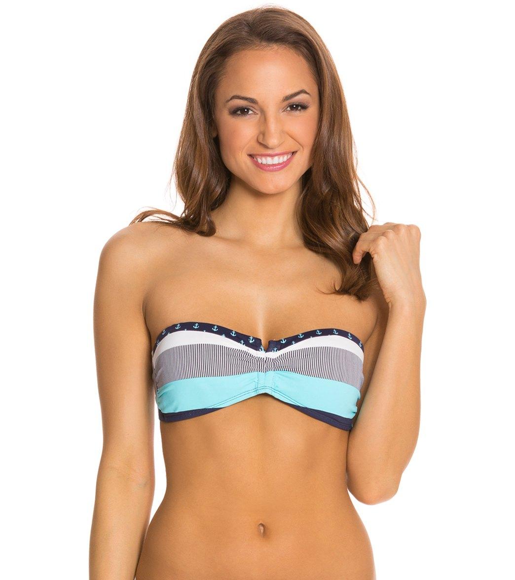 aaddfdad7fe63 Tommy Bahama Swimwear Bold Stripe and Mini Anchor V Front ...