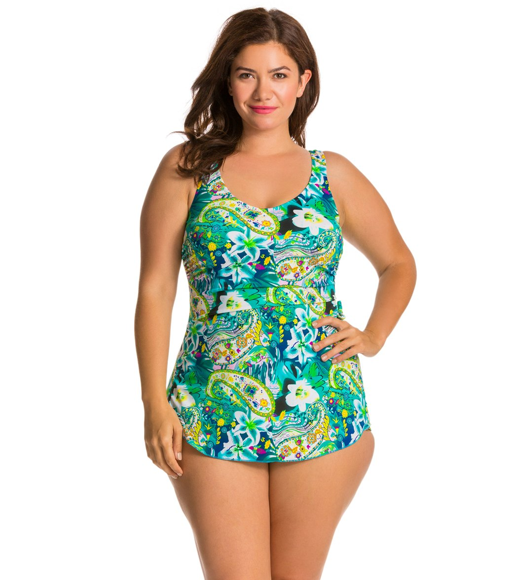 4579a75968fcd T.H.E. Plus Martinique Classic Sarong Swimdress at SwimOutlet.com ...