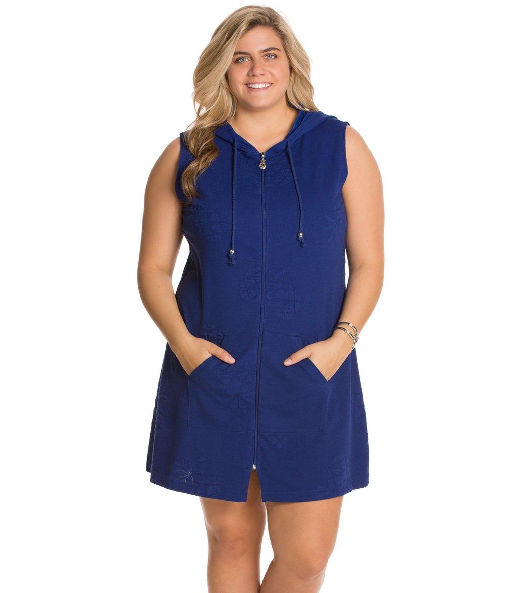 febfe9d6d0 Dotti Plus Size Pineapple Delight Zip Up Hoodie Dress at SwimOutlet ...