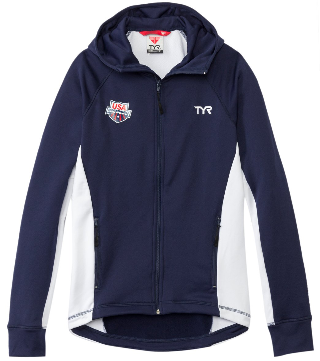 fe09728a544 TYR USA Swimming Men's Alliance Victory Warm Up Jacket at SwimOutlet.com -  Free Shipping