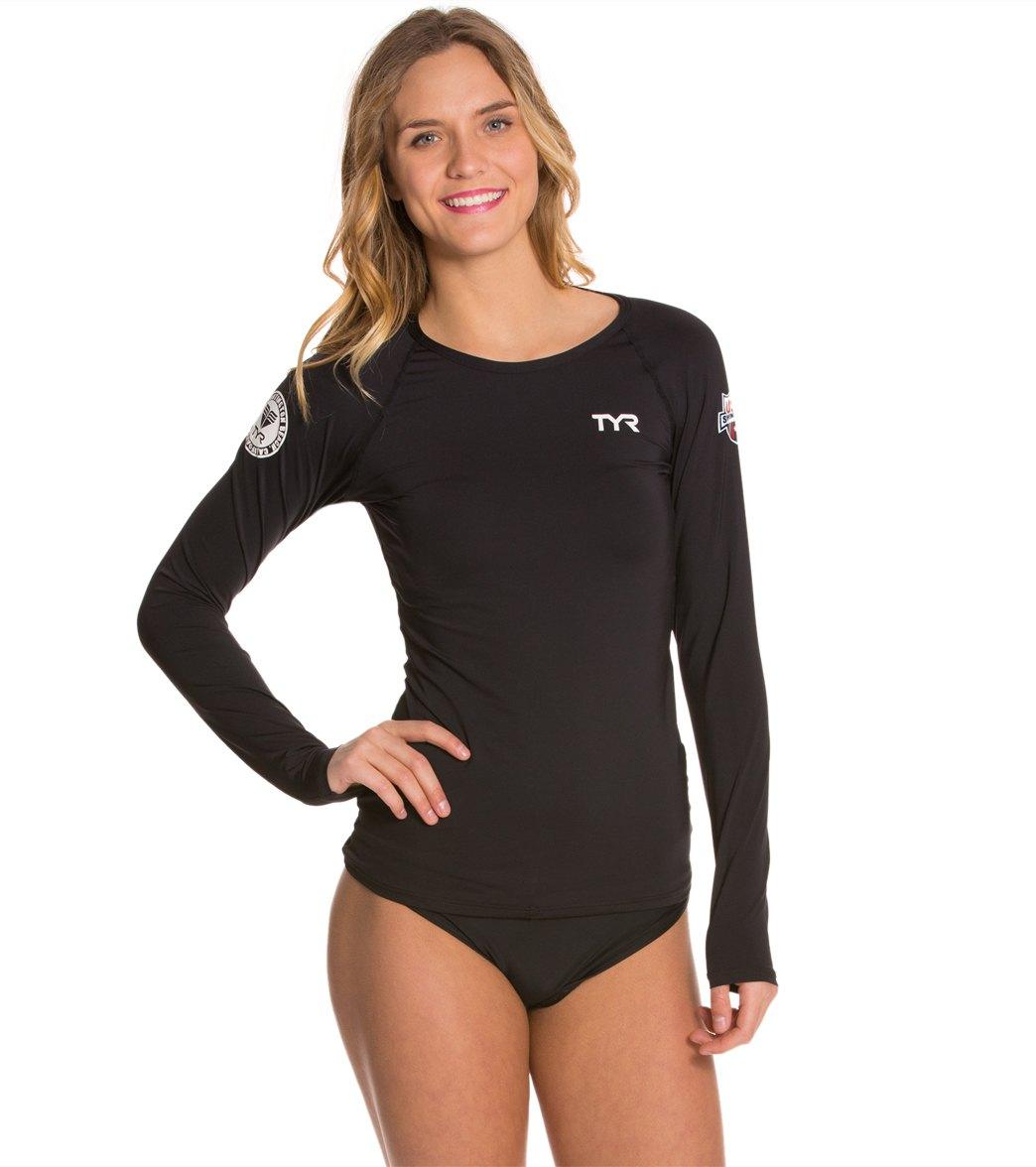 ca5c3de5 TYR USA Swimming Women's Long Sleeve Swim Shirt at SwimOutlet ...