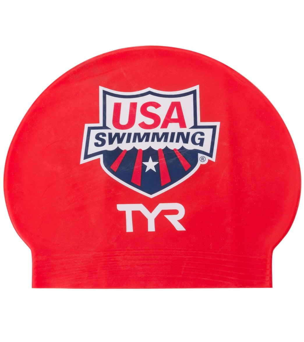 c38f5502c TYR USA Swimming Latex Swim Caps